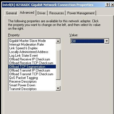 Windows network adapter configuration