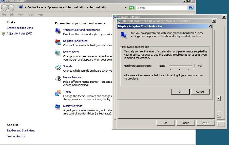 how to set hardware acceleration to full