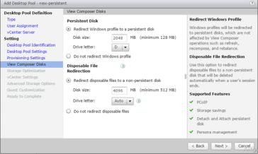 Migrating Desktops with Persistent disks to new VMware