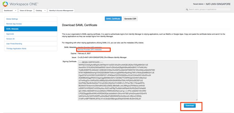 vIDM metadata and certificate download.png