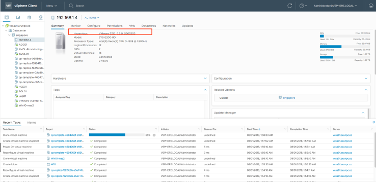 esxi version and vcenter dashboard.png